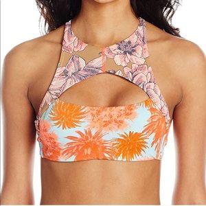 Maaji High Neck Cutout Bikini Top
